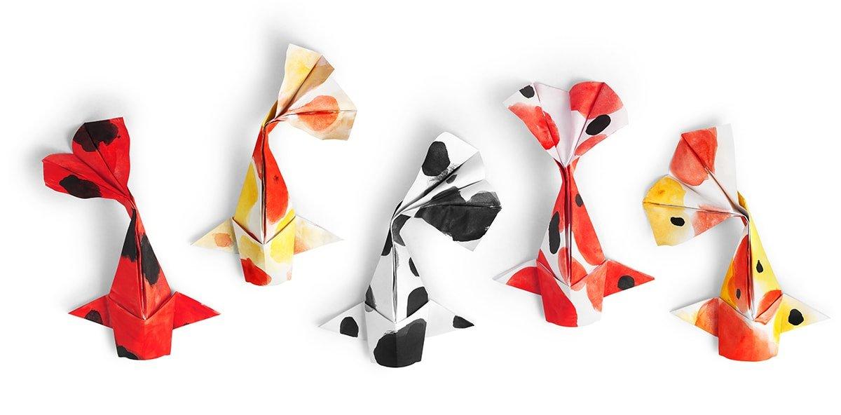 Beautiful Folded Goldfish